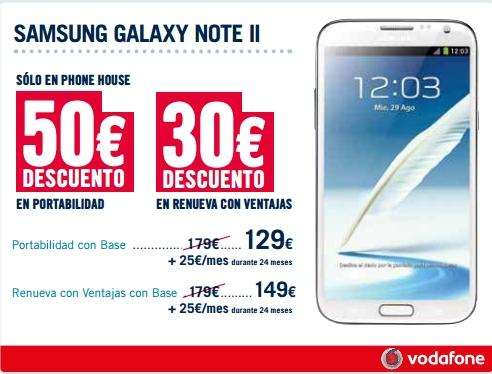 Samsung Galaxy Note con Vodafone y The Phone House
