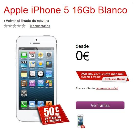 iPhone 5 con Vodafone