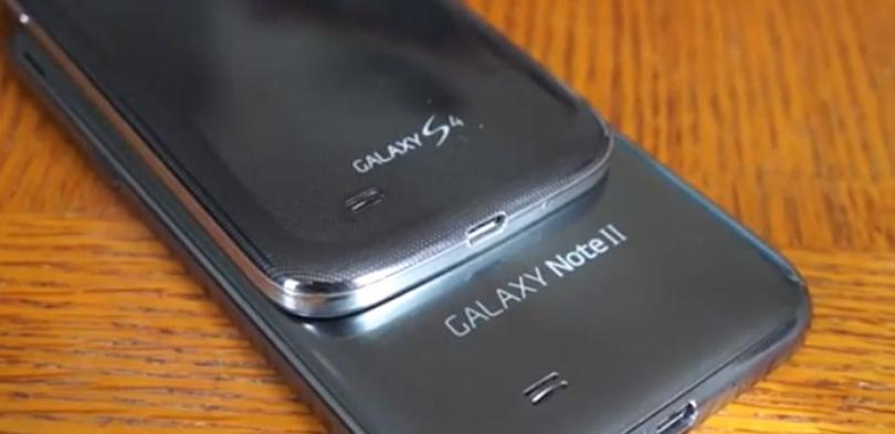 Samsung Galaxy S4 frente al Samsung Galaxy Note 2