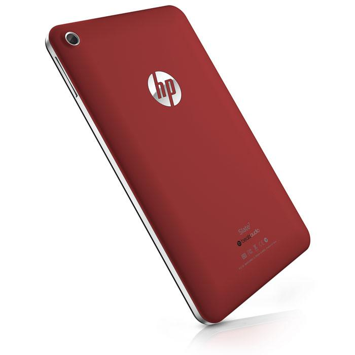 La tableta HP Slate 7 en rojo