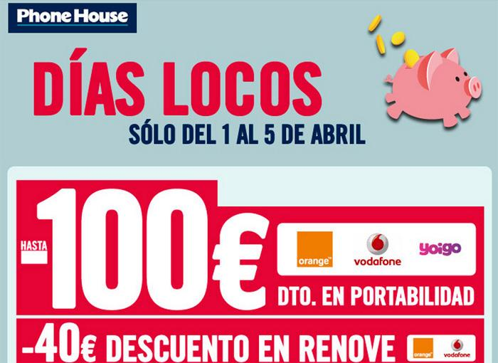 Días locos en The Phone House del 1 al 5 de abril