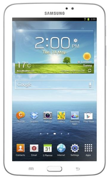 Samsung Galaxy Tab 3 blanco vista frontal