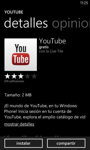 Nokia Lumia 920 y YouTube