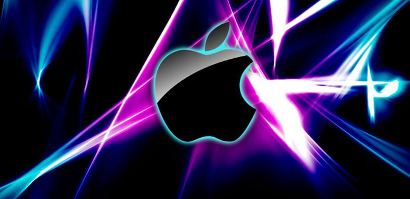 Logo de Apple en diferentes colores