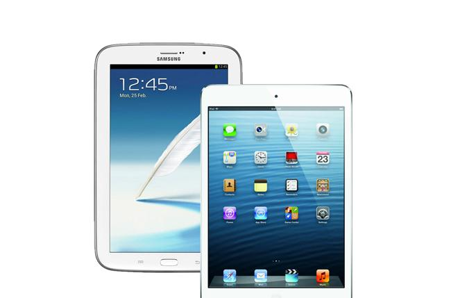El Samsung Galaxy Note 8 vence al iPad mini.
