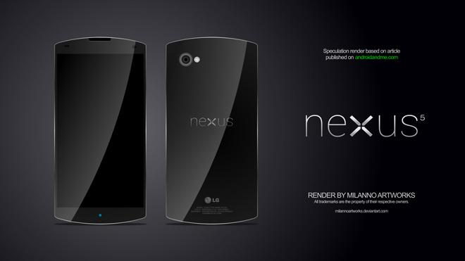 Posible diseño del Nexus 5