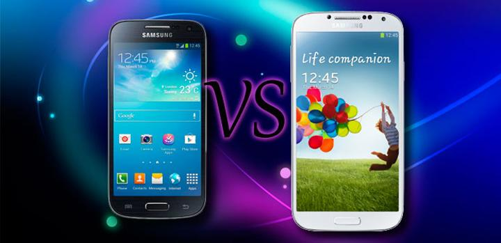 Comparativa Samsung Galaxy S4 Mini