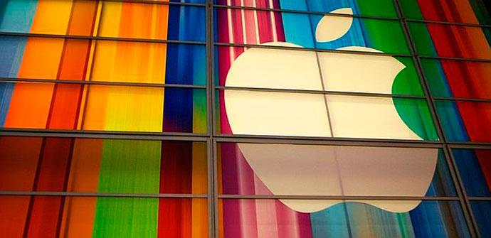 Logo de Apple en distintos colores