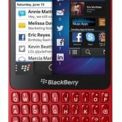 BlackBerry Q5 rojo vista frontal