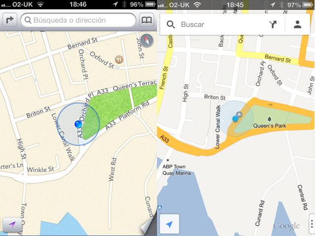 mapas apps ios