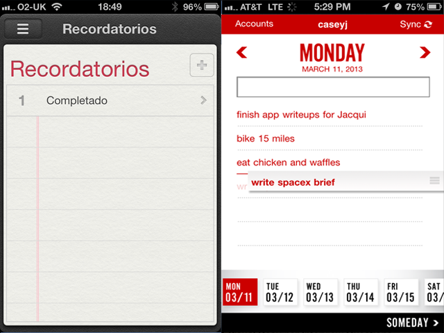 recordatorios apps ios
