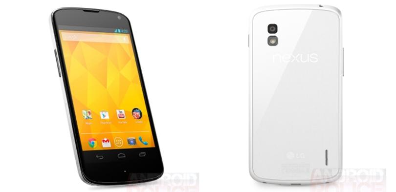 El Nexus 4 blanco se agota en Google Play.