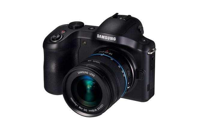 Vista frontal del Samsung Galaxy NX