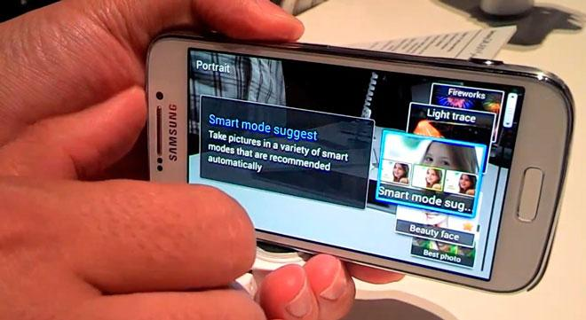 Smart Mode en Samsung Galaxy S4 Zoom