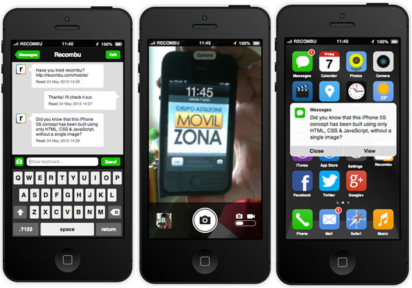 iphone 5s ios 7 concepto