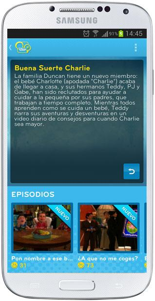 Información de serie en Disney Channel Replay