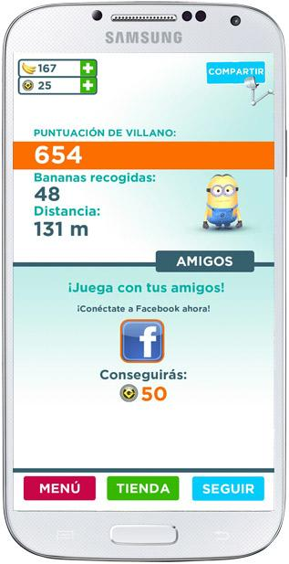 Enlace redes socials de Gru. Mi villano favorito: Minion Rush