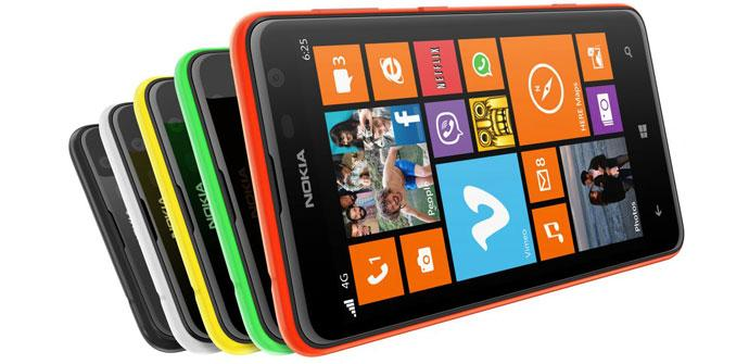 Nokia Lumia 625 en distintos colores