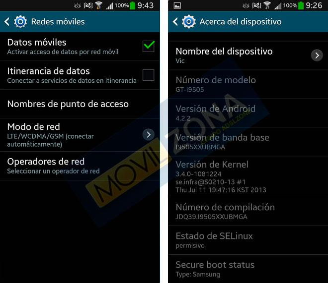Modo de red en Samsung Galaxy S4