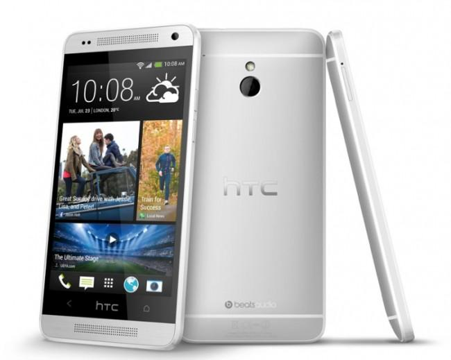 HTC ONE Mini vista frontal, trasera y lateral