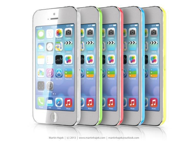 iPhone mini low cost concepto colores vista frontal