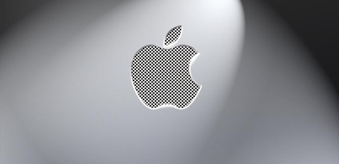 Logotipo de Apple en gris