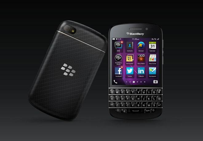 BlackBerry Q10 en negro