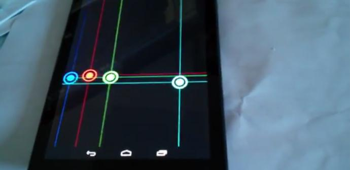 Video Nexus 7 problemas pantalla.