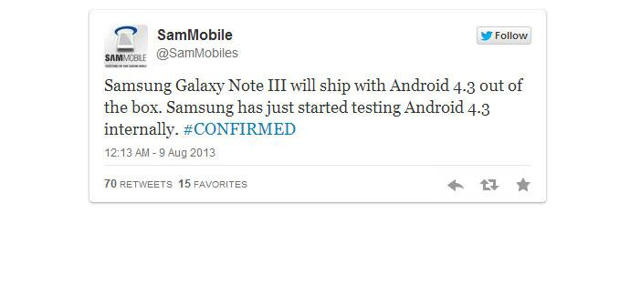 Sammobile tweet