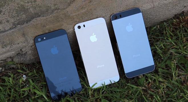 iPhone 5S en distintos colores