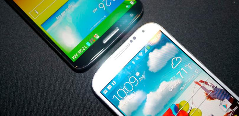 LG G2 vs Samsung Galaxy S4 en vídeo.