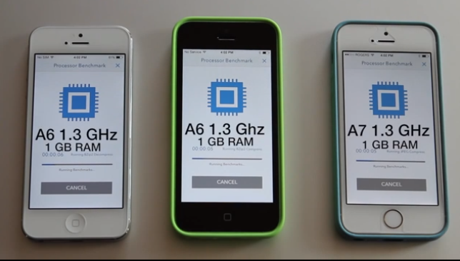 iphone 5s 5c 5 comparativa