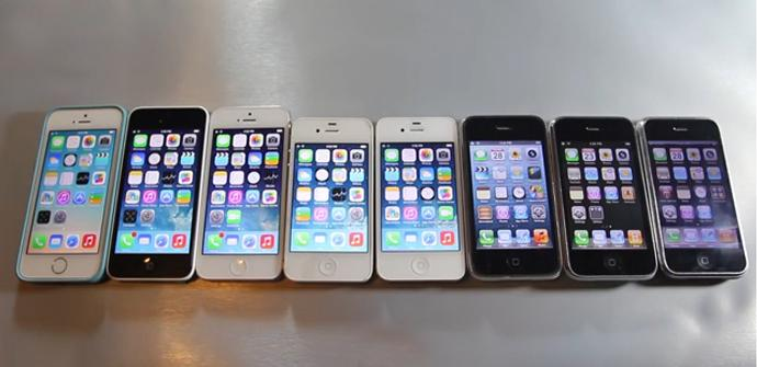 Las 8 generaciones de iPhone en vídeo.
