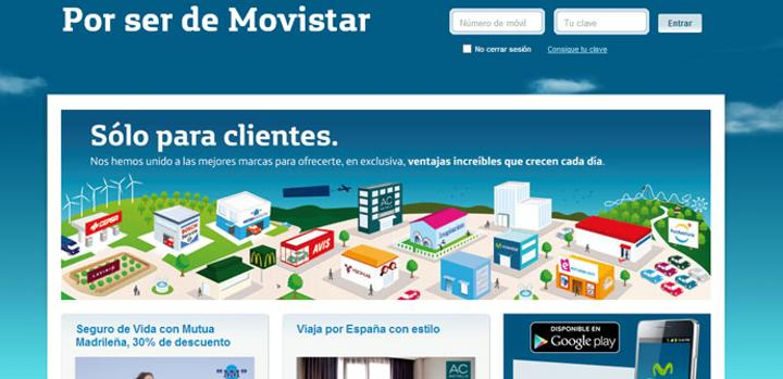 Por ser de Movistar captura de pantalla