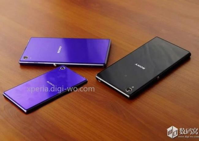 Posible Sony Xperia Z1 mini en púrpura.