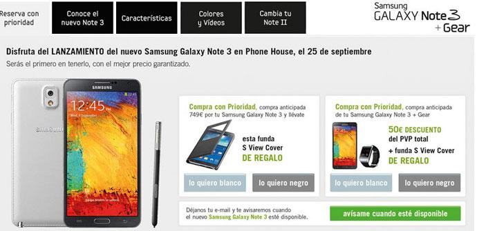 Samsung Galaxy Note 3 en Phone House