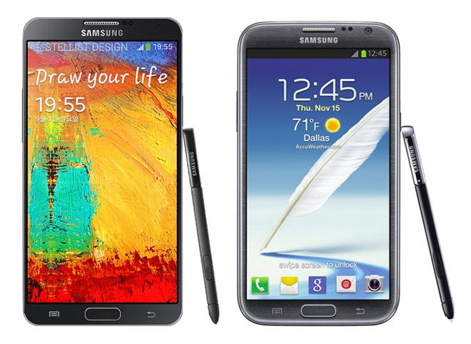 Galaxy Note 3 VS Galaxy Note 2