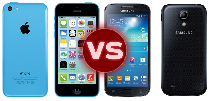 comparativa iphone 5c galaxy s4 mini