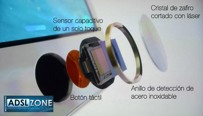 Sensor táctil del iPhone 5S