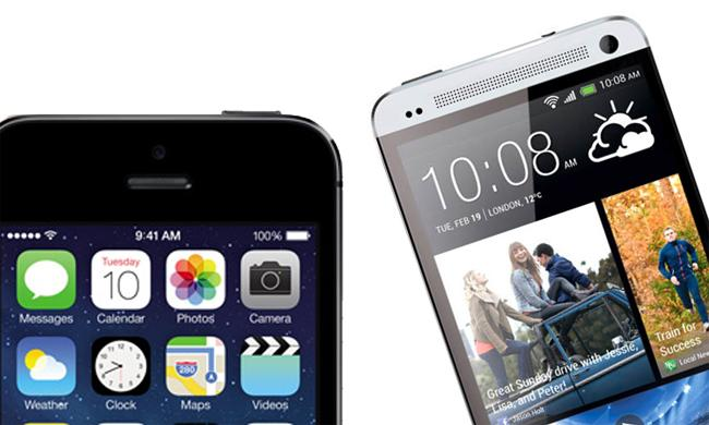 iPhone 5S vs. HTC One: comparativa de características.