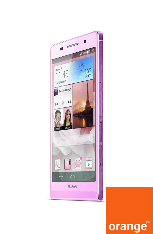 orange huawei ascend p6