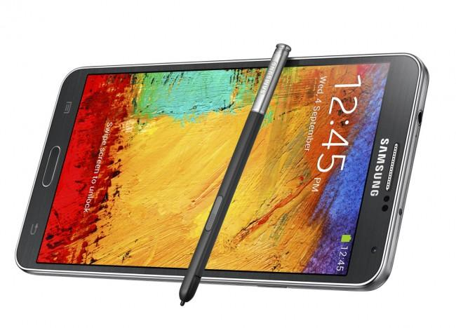 Samsung Galaxy Note 3 vista lateral con S Pen