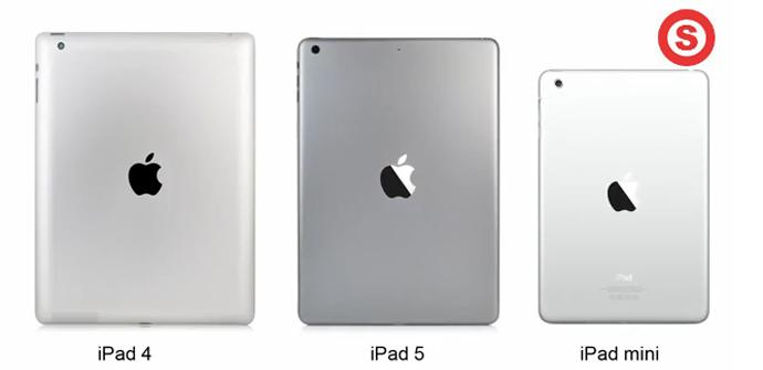 Vídeo comparativo de iPad 5, iPad 4 y iPad mini.
