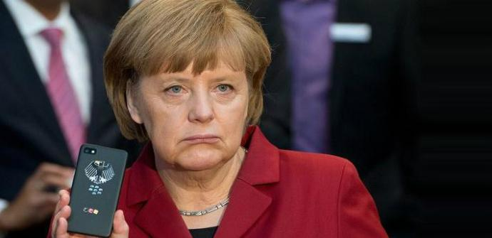 BlackBerry z10 angela merkel