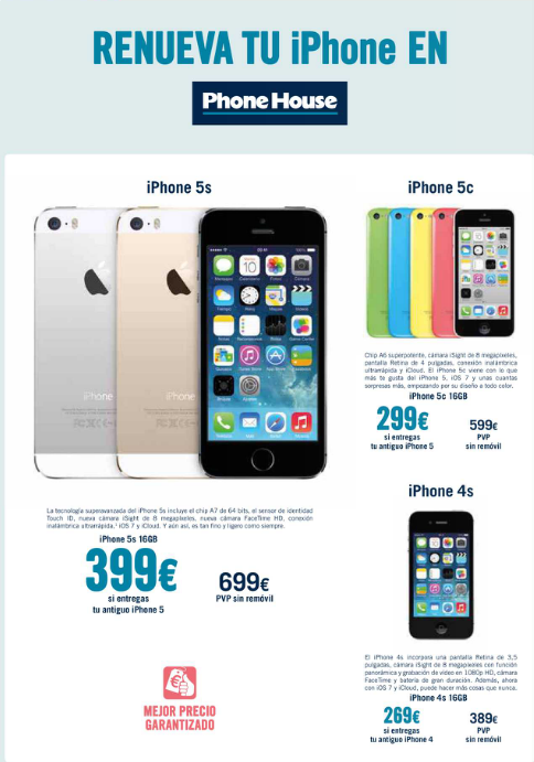 oferta iphone 5s the phone house