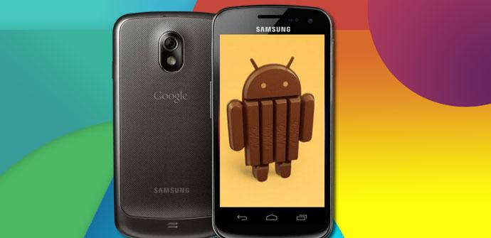 Galaxy Nexus con Android 4.4 KitKat