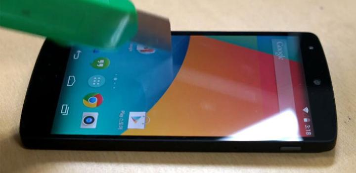 Test de resistencia del display del Nexus 5
