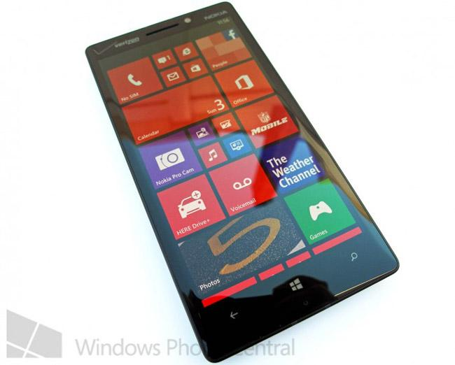 Nokia Lumia 929 frontal.