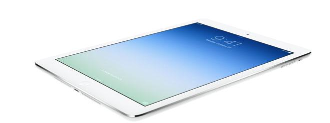iPad Air en blanco