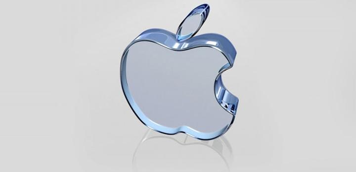Logo de Apple de cristal